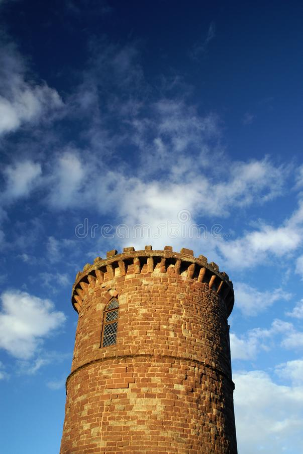 Der runde Gazebo-Turm - Palast-Pfund, Ross-auf-Ypsilon, Herefordshire, Vereinigtes Königreich - 2. Dezember 2007 lizenzfreie stockbilder