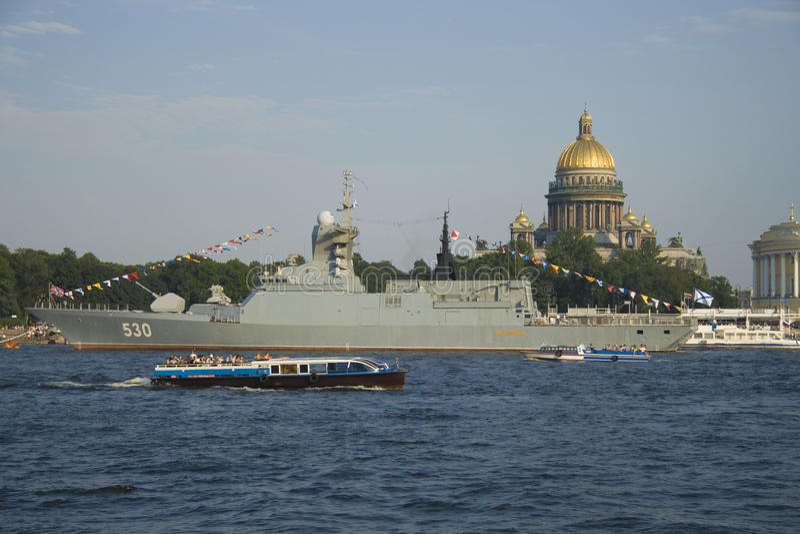 Der Russain Marinetag stockfotos
