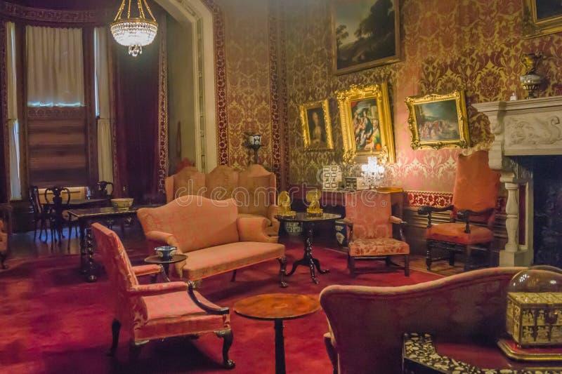 Der Salon an Tyntesfield-Haus in Somerset lizenzfreies stockbild