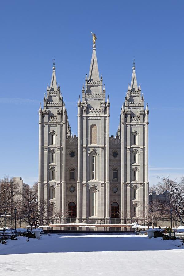 Der Salt Lake-Tempel in Utah lizenzfreie stockbilder