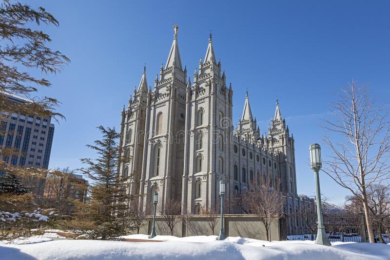 Der Salt Lake-Tempel in Utah lizenzfreie stockfotografie