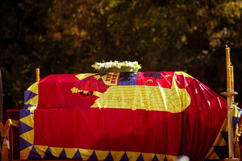 Der Sarg der Königin Anne von Rumänien stockfoto