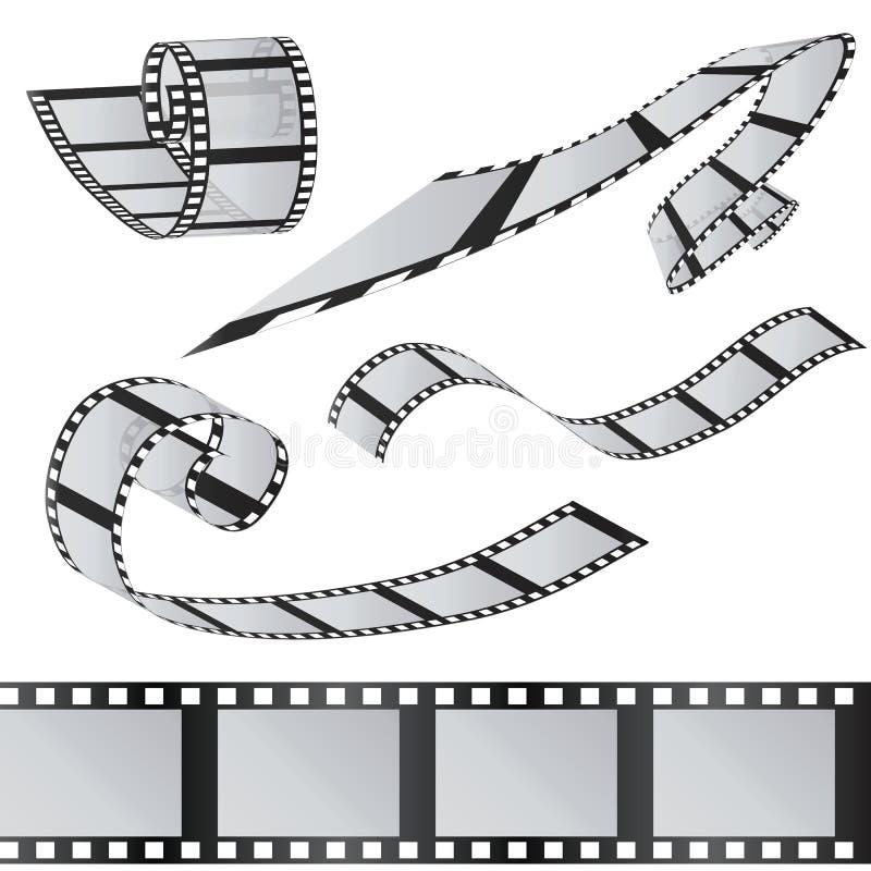 Der Satz von Filmen 35mm Filmrolle Realistisches Bild 3D stock abbildung