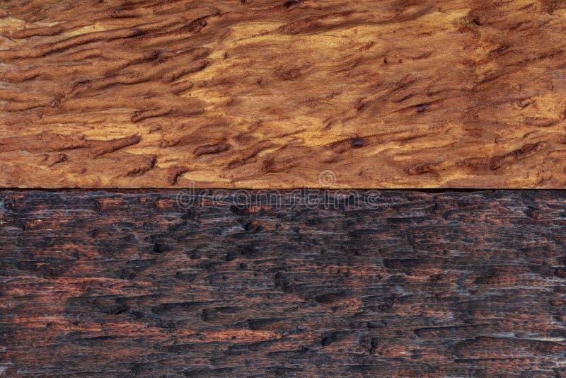 Der schöne hölzerne Hintergrund, der in den hellen und dunklen Tönen ockerhaltig sind, braun kombiniert wird, bräunen sich, golde stockfoto