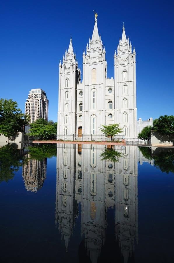 Der schöne mormonische Tempel in Salt Lake City, lizenzfreie stockfotos