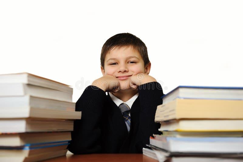 Der Schüler mit Büchern lizenzfreie stockfotografie