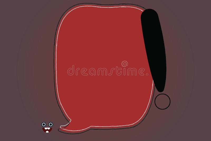Der Schablonenkopienraum Plakatkupons des Geschäftskonzeptes leere Sprache-Blase Promotionsmaterial leere Farb stock abbildung