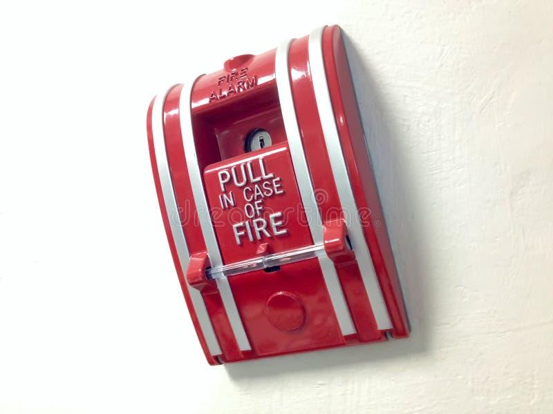 Der Schalter-Feuermelder stockfotos
