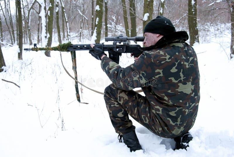 Der Scharfschütze. lizenzfreie stockbilder