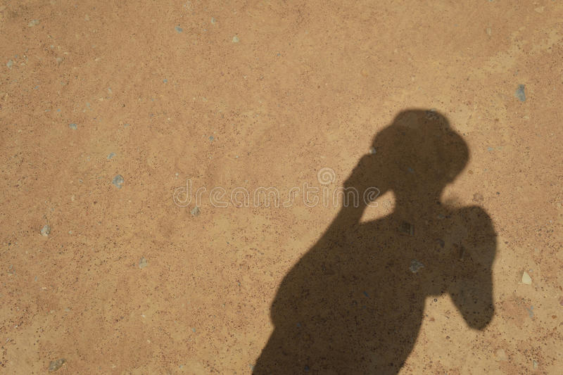 Der Schatten stockbild
