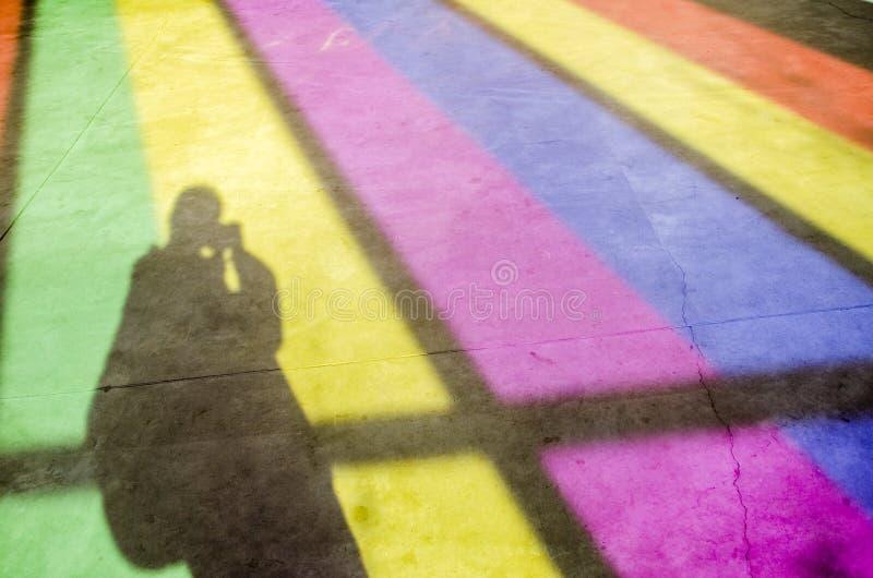 Der Schatten des Fotografen lizenzfreie stockfotos