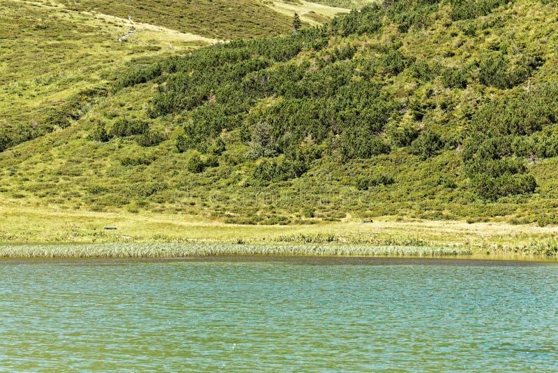 Der Schlappolt See in den Allgäu-Alpen im Bayern stockfotografie