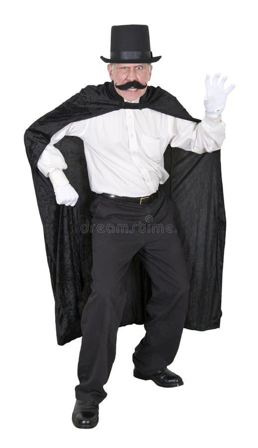 Der schlechter Schuft-Bösewicht-Durchschnitt-verärgerte Mann getrennt stockfoto