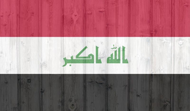 Der Schmutz-Irak-Flagge stock abbildung