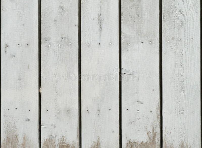 Der Schmutz, welche Weiß gemalter Eiche abzieht, verschalt Hintergrund stockfoto