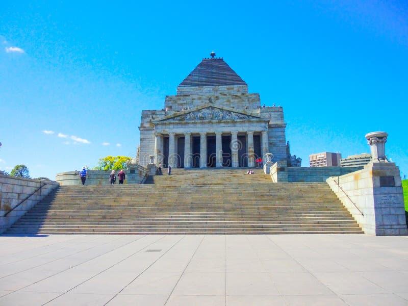 Der Schrein der Erinnerung wurde als Denkmal errichtet, das im Ersten Weltkrieg diente, gelegen in Königen Domain auf St. Kilda R stockfoto