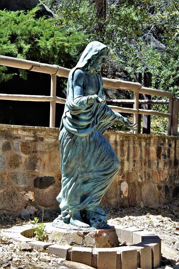 Der Schrein von Saint Joseph der Berge, Yarnell, Arizona, Vereinigte Staaten stockbilder