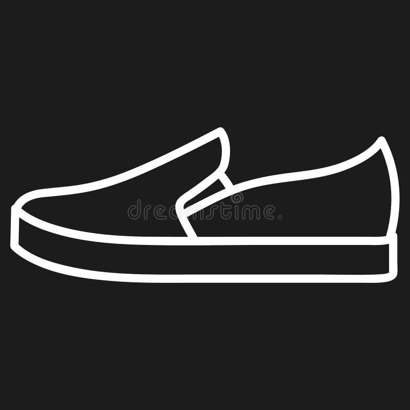 Der Schuh der Frauen umriß Ikone im dunklen Hintergrund stockfoto