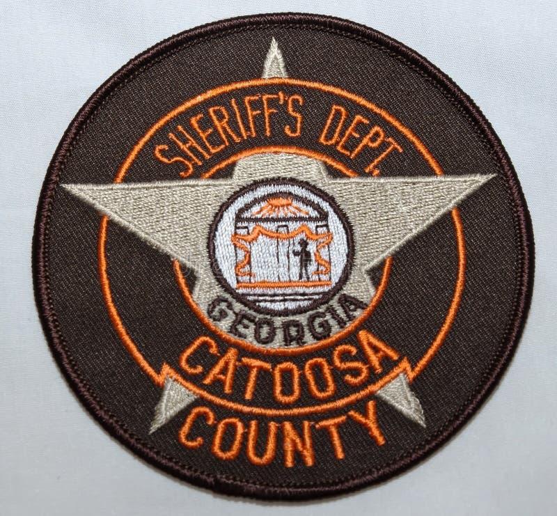 Der Schulterflecken der Abteilung Catoosa-Sheriffs in Georgia lizenzfreie stockbilder