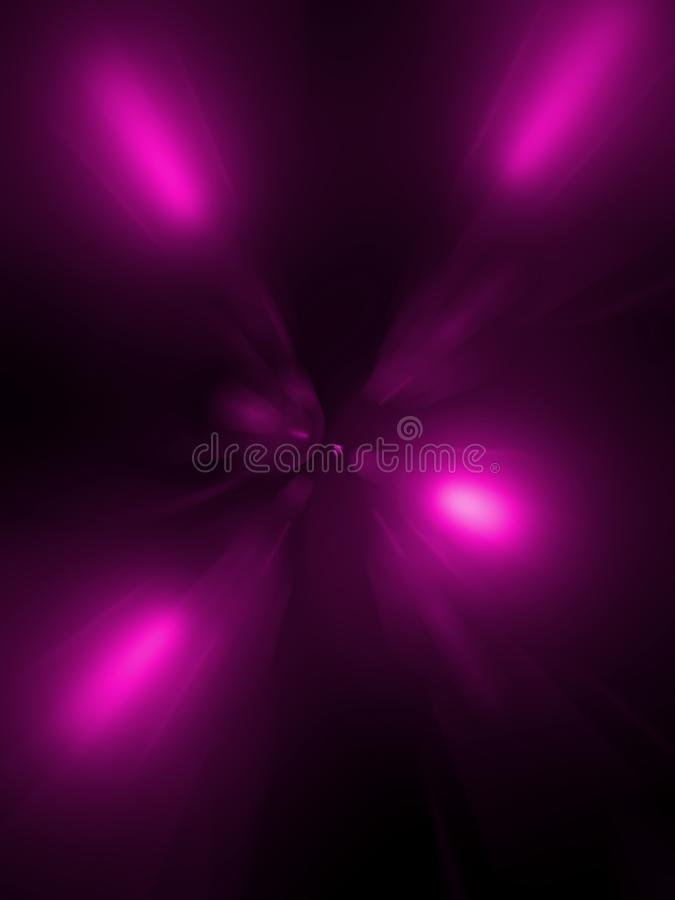 Der schwarze Hintergrund eines Tunnels von Hochrot, Abstraktion lizenzfreie stockfotos