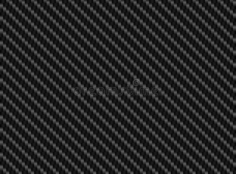 Der schwarzen nahtloser Hintergrund Kohlenstoff-Faser des Vektors lizenzfreie abbildung