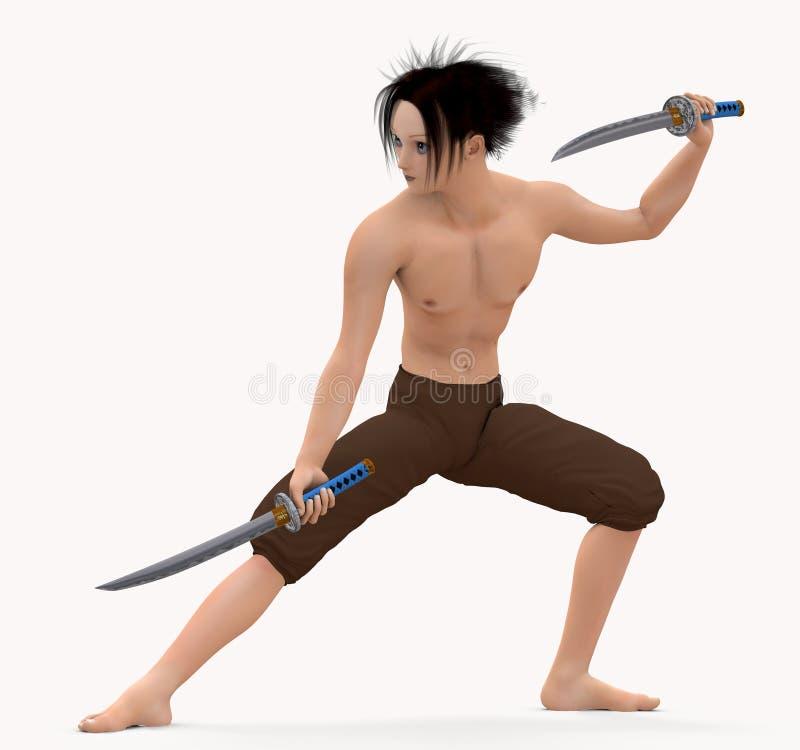 Der Schwertfechter stock abbildung