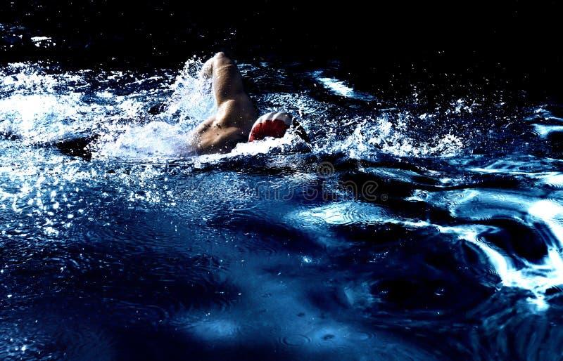 Der Schwimmer lizenzfreies stockfoto