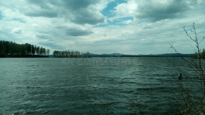 Der See in Russland stockfoto