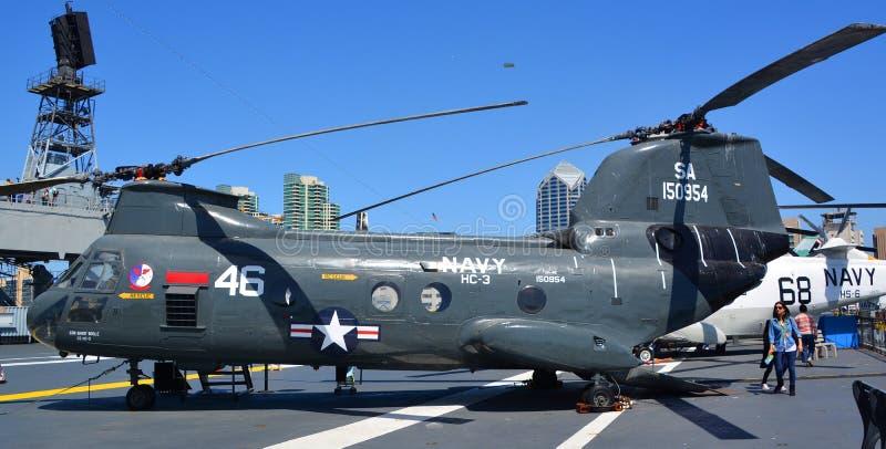 Der Seeritter Boeings Vertol CH-46 stockbild
