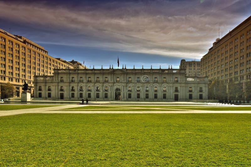 Der Sitz des Präsidenten von Chile lizenzfreies stockbild