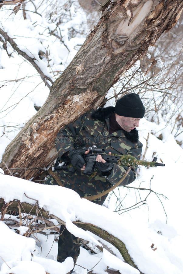 Der Soldat. stockfotografie