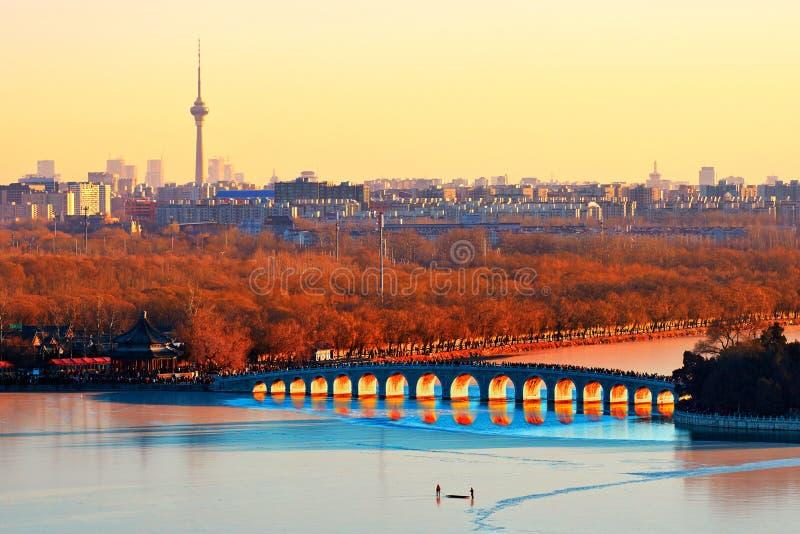 Der Sommer-Palast, Winter-Sonnenwende, China stockfotos