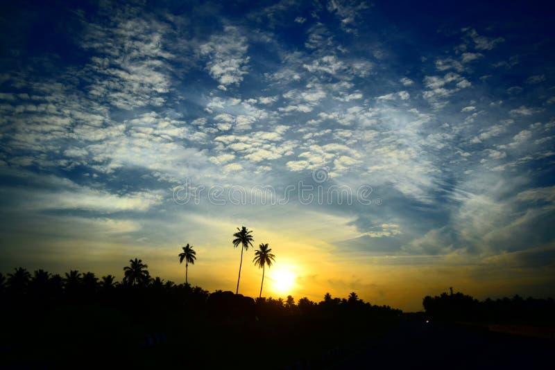Der Sonnenaufgang lizenzfreies stockbild