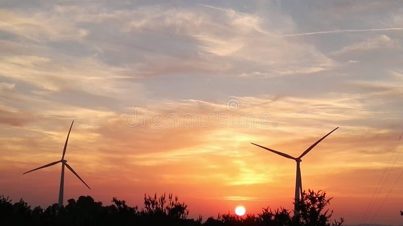 Der Sonnenuntergang lizenzfreie stockfotos