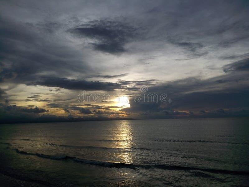 Der Sonnenuntergang stockbilder