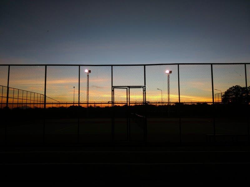 Der Sonnenunterganghimmel stockfotografie