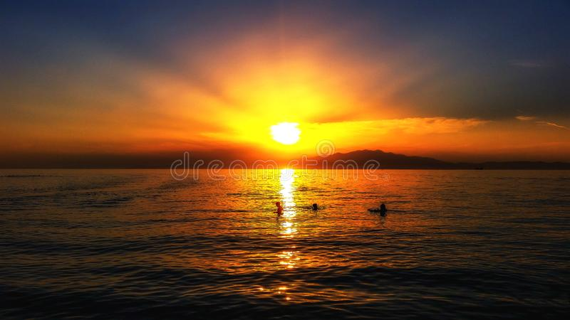 der Sonnenuntergangtraum stockbilder