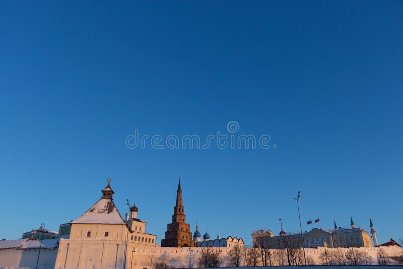 Der Soyembika-Turm im Kasan der Kreml lizenzfreie stockbilder