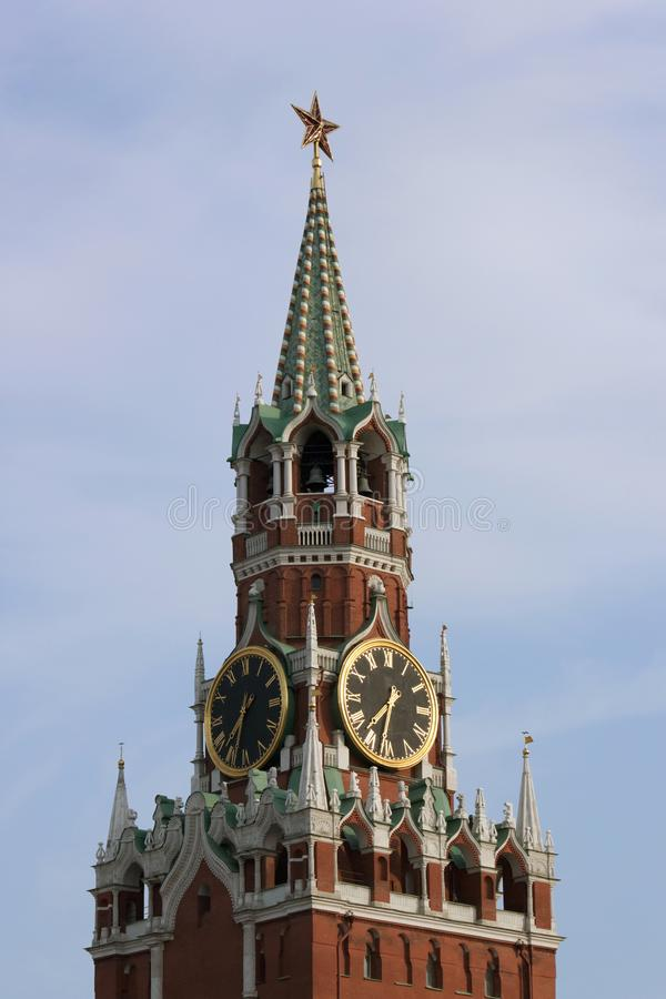 Der Spasskaya Kontrollturm lizenzfreies stockbild