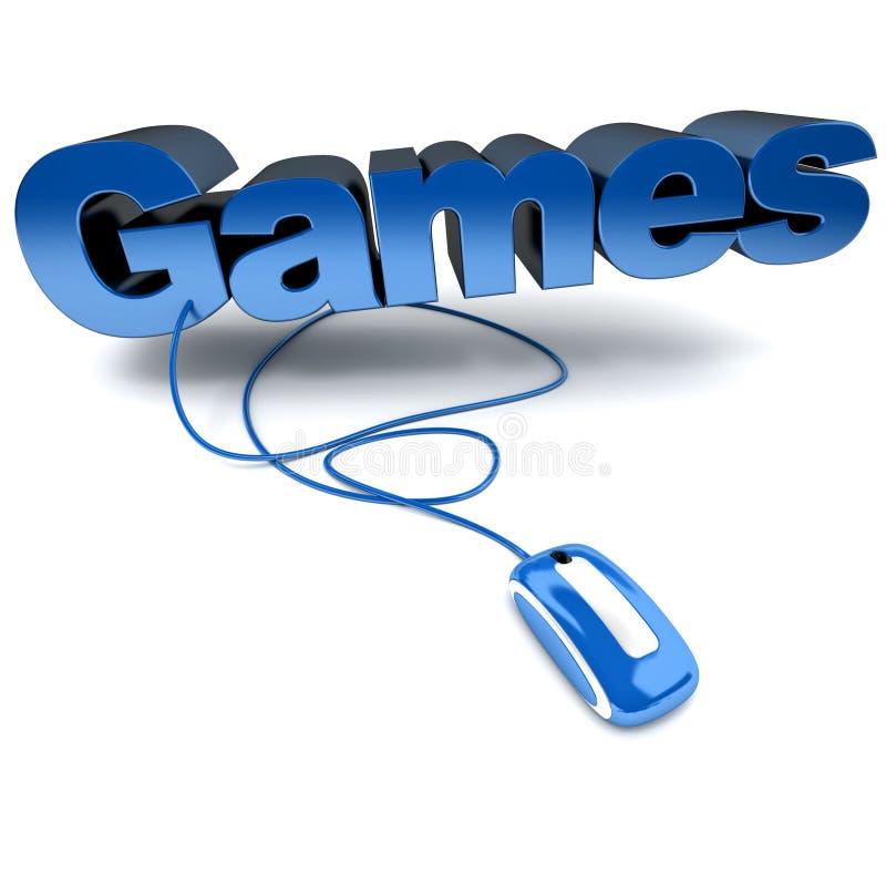 Der Spiele Blau online stock abbildung