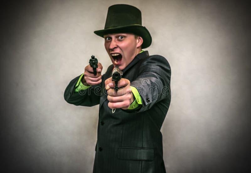 Der Spion Geheimagent Detecive-Mittel stockbild