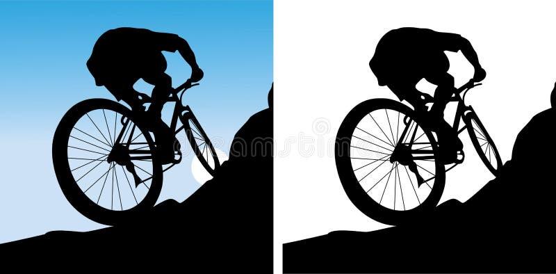 Der Sportler auf einem Fahrrad vektor abbildung