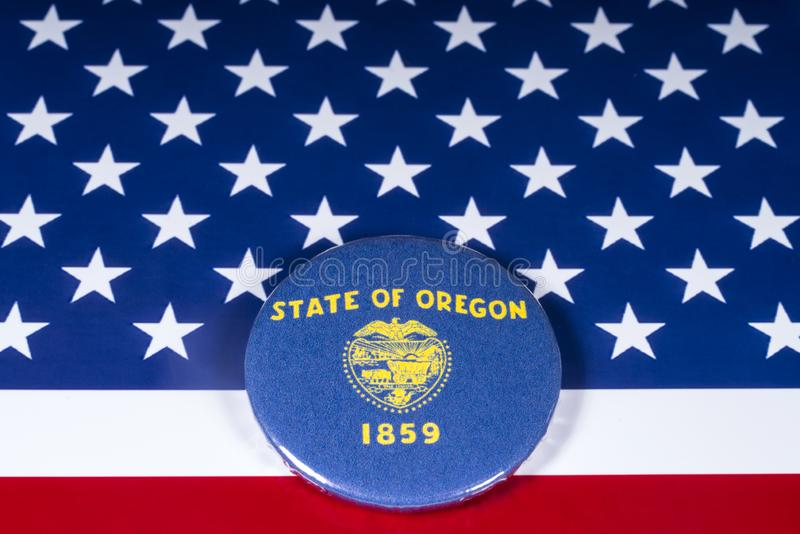 Der Staat Oregon in den USA lizenzfreie stockbilder