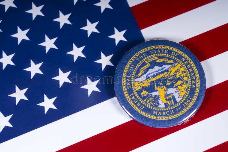 Der Staat von Nebraska in den USA lizenzfreies stockfoto