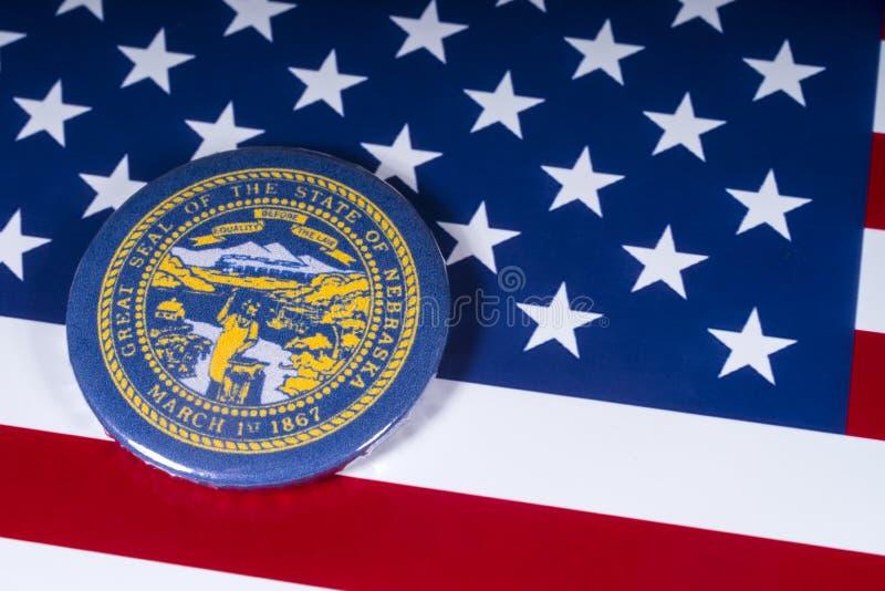 Der Staat von Nebraska in den USA lizenzfreie stockbilder