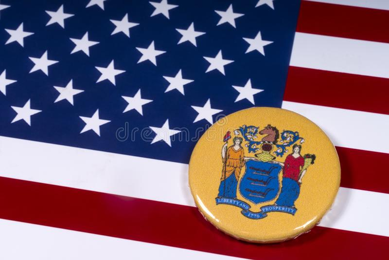 Der Staat von New-Jersey in den USA lizenzfreie stockbilder