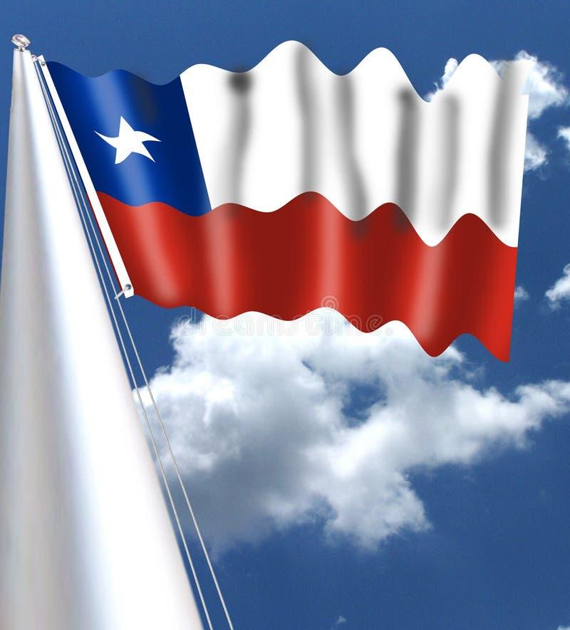 Der Staatsangehörige, der im Falle der Farben der chilenischen Flagge, Weiß stellt flagChile ist traditionsgemäß, den Schnee der  lizenzfreies stockfoto