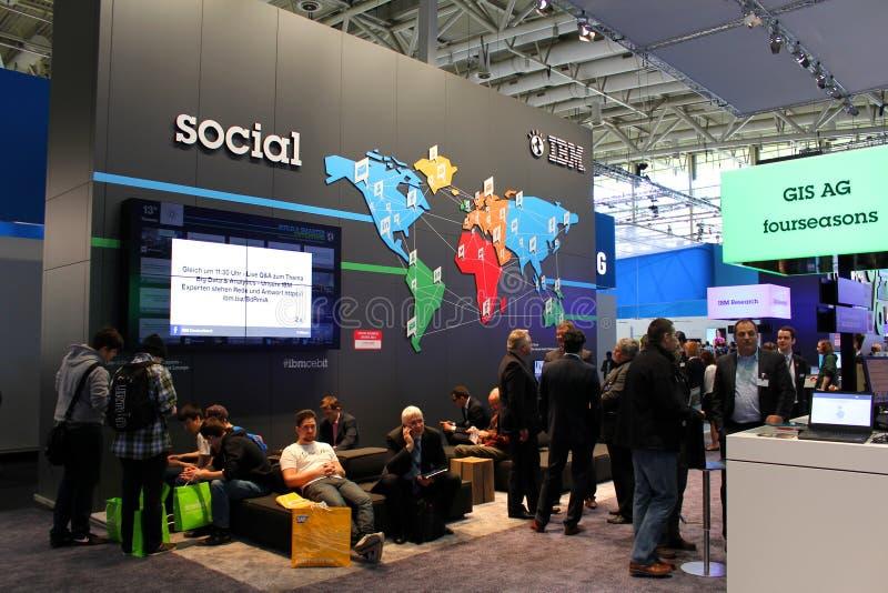Der Stand von IBM lizenzfreie stockfotografie