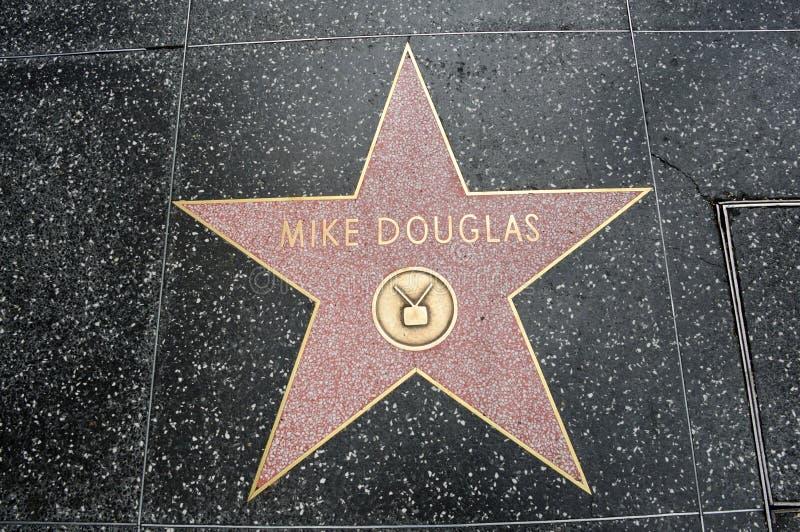 Der Stern von Mike Douglas stockfotografie