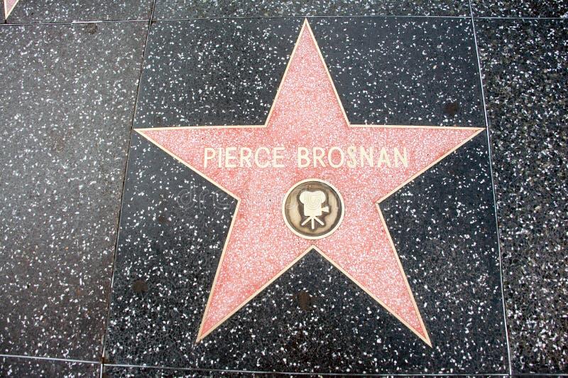 Der Stern von Pierce Brosnan stockfotos